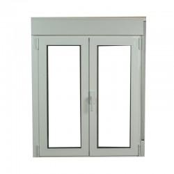 S2300 Ventana abatible de aluminio con persianas compactas