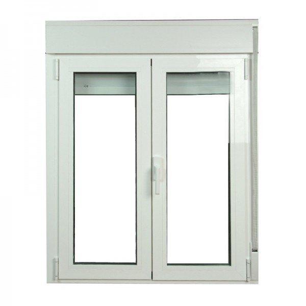 S2300 ventana oscilo batiente de aluminio con persianas for Precios de ventanas con persianas
