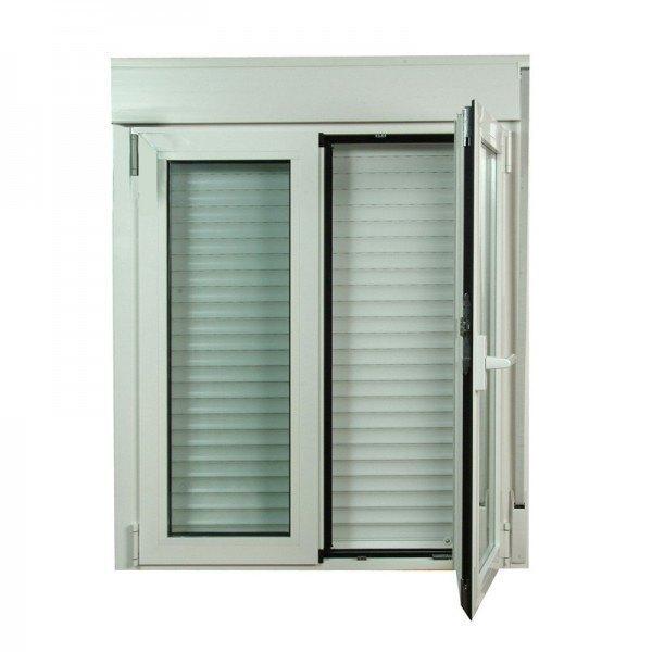S2300 ventana oscilo batiente de aluminio con persianas - Precio de persianas ...