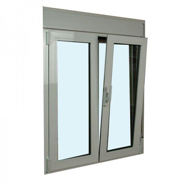 s2300 ventana oscilo batiente de aluminio con persianas